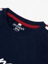Big Boy Navy Blue Stripes Full Sleeve Raglan Shirt