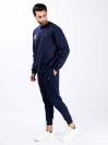 Men Navy Blue Sweatsuit