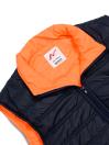 Navy Blue/Orange Sleeveless Puffer Gilet Jacket