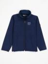 Navy Blue Stand Up Collar Soft Shell Little Boy Jacket