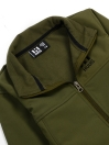 Olive Stand Up Collar Soft Shell Little Boy Jacket