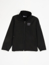 Black Stand Up Collar Soft Shell Little Boy Jacket