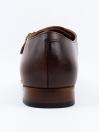 Men's Leather Brown Double Monk Wingtip Dress Shoe