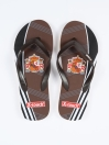 Unisex Brown & Black Comfort Flip Flop