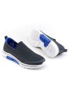 Men Grey Royal Blue Sports Lifestyle Shoes