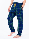 Blue & Green Multi Check Cotton Relaxed Pajama with zipper side pockets